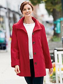 Portrait Collar A-Line Coat