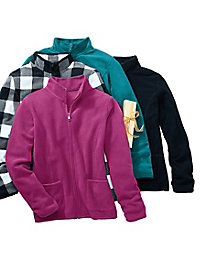 Bundle Up Solid Fleece Jacket