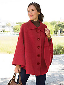 Boiled-Wool Cape