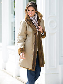 Reversible Faux-Fur Storm Coat