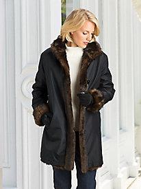Reversible Faux-Fur Storm Coat