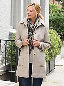 Image of Brushed Twill Coat