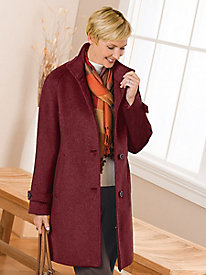 Heathered Balmacaan Car Coat by Jones New York®