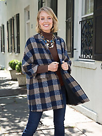 Gina Plaid Coat @...
