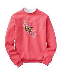Morning Sun Embroidered Sweatshirts