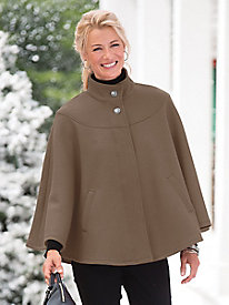 Shop 1960s Style Coats and Jackets Classic Wool Cape $59.99 AT vintagedancer.com