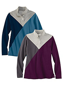 Colorblock Henley Top