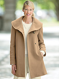 Portrait-Collar Coat by Larry Levine