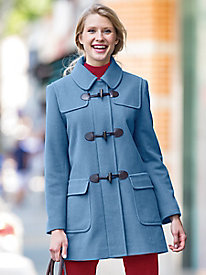 Wool Toggle Coat by Larry Levine
