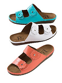 Daisy Velcro Leather Sandals