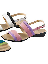 Two Tone Leather Sandals