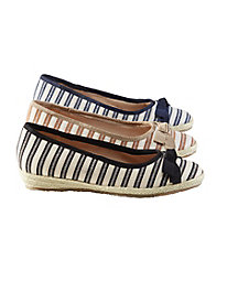 Tina Striped Espadrille...