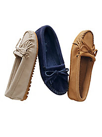 Suede Kilty Driving Moccasins by Minnetonka®