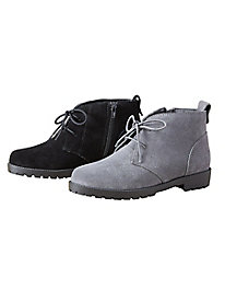 Side-Zip Suede Boots by The Tog Shop
