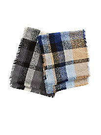 Boucl� Plaid Scarf