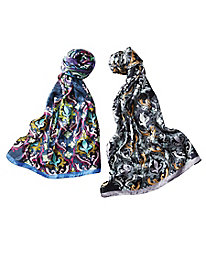 Echo� Decorative Damask Scarf