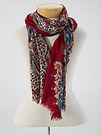 Paisley Leopard Scarf