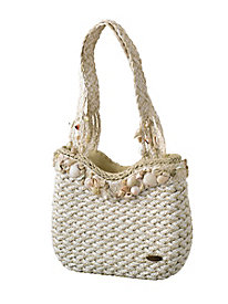 Shells & Straw Handbag