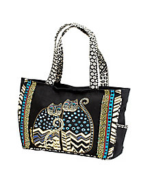 Dot Gatos Bag by Laurel Burch