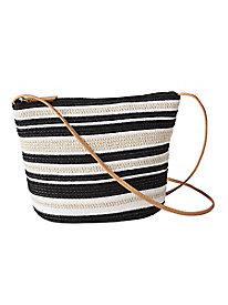 Striped Shoulder Bag