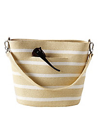 Striped Straw Handbag