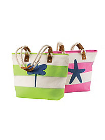 Critter Applique Canvas Bag