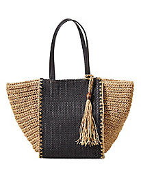 Mixed-Textures Tote