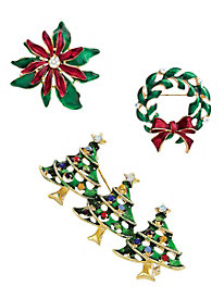 Collectible Yuletide Pins