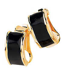 Half-Hoop Enamel Earrings