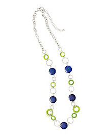 Glass Disc Necklace