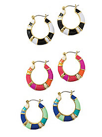 Enamel Colorblock Earrings