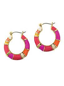 Enamel Colorblock Earrings