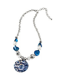 China Blue Pendant Necklace