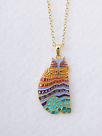Rainbow Cat Necklace by Laurel Burch