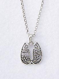 Cat Face Necklace by Laurel Burch