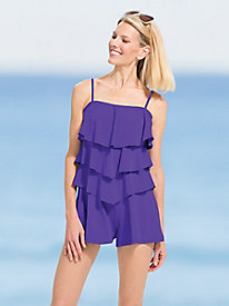 Tiered Romper Swimsuit by Fit 4 U�