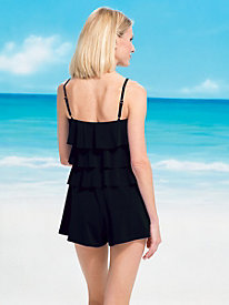Tiered Romper Swimsuits by Fit 4 U