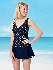 Twist-Front Polka Dot Skirtini by Roxanne�