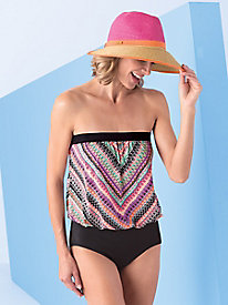 Chevron Blouson Swimsuit by Jantzen