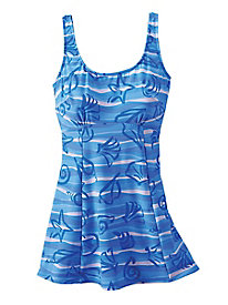 Figure-Control Tunic Suit by Sea Waves®