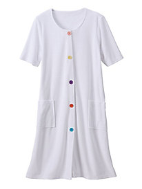 Multicolored Button Coverup