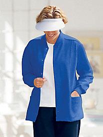Casual Fleece Multi-Pocket Cardigan