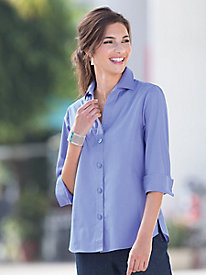 Foxcroft Three-Quarter Sleeve Shirt