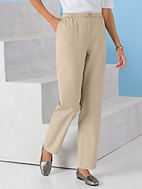 Tab Waist Pull-On Pants by Koret®