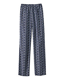 Vine Print Pull-On Pants