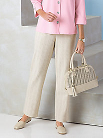 Look-of-Linen Striped Pants by Koret®
