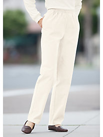 Stretch Pincord Pull-on Pants