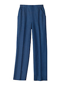Flat Front Pull-on Denim By Alfred Dunner&#174