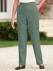Blended Twill Fly-front Pant