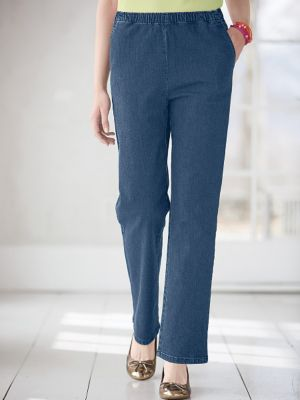 Classic Stretch Denim Pull-On Jeans | Women&39s Pants | Appleseeds